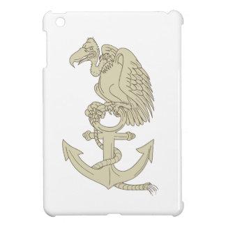Buzzard Perching Navy Anchor Cartoon iPad Mini Cover