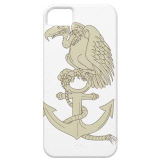 Buzzard Perching Navy Anchor Cartoon iPhone 5 Case