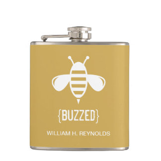 {BUZZED} Bridal Party Buzzed Bee Gift (gold) Flask