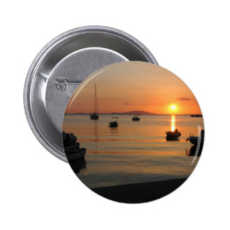 Buzzer Sunset in Novalja in Croatia 6 Cm Round Badge