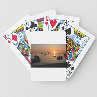 Buzzer Sunset in Novalja in Croatia Bicycle Playing Cards