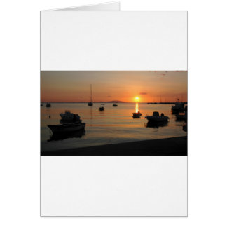 Buzzer Sunset in Novalja in Croatia Card