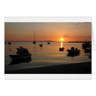 Buzzer Sunset in Novalja in Croatia Card