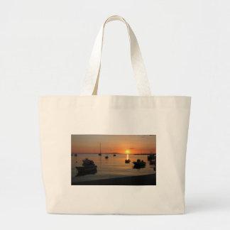 Buzzer Sunset in Novalja in Croatia Large Tote Bag