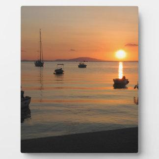 Buzzer Sunset in Novalja in Croatia Plaque