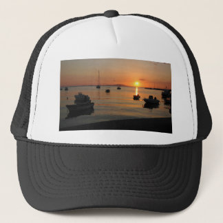 Buzzer Sunset in Novalja in Croatia Trucker Hat