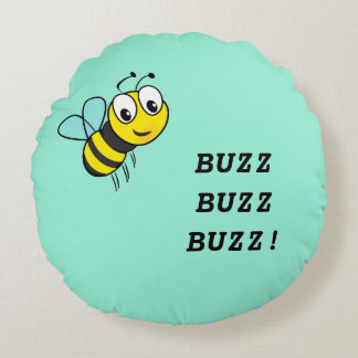 Buzzing Bee Throw Pillow