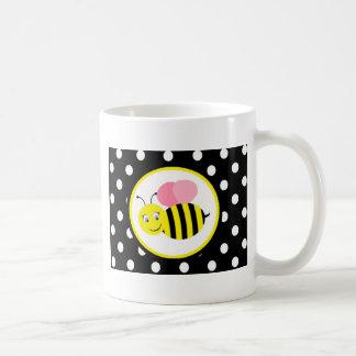 Buzzing Bumble Bee - Pink / Black Coffee Mug