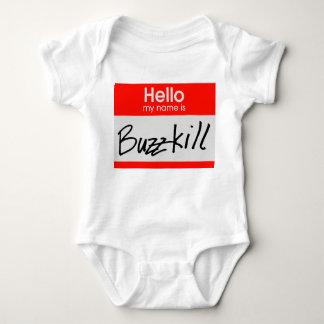 Buzzkill Nametag Baby Bodysuit