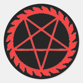 Buzzsaw Pentagram Sticker