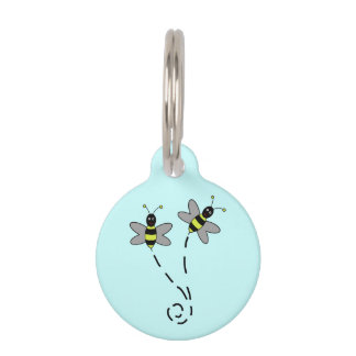 Buzzy Bumble Bees Pet Name Tags