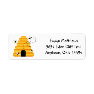 Buzzzing Bees Return Address Labels