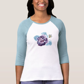 Buzzzzzing - Summer Rose & Bee, Sumi-e in color Tee Shirts