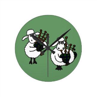 BV- Sheep Playing Bagpipes Clock