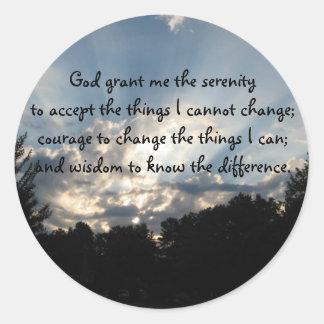 BV- Sunrise Serenity Prayer Stickers