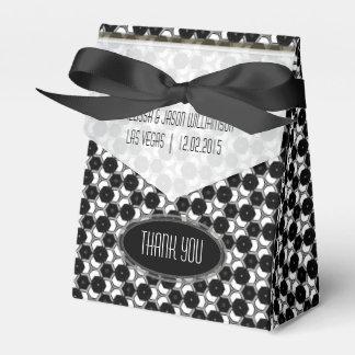 BW01 Geometric Hexagon Pattern Black White Party Wedding Favour Box