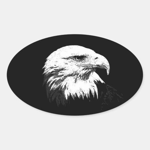 BW American Bald Eagle Sticker