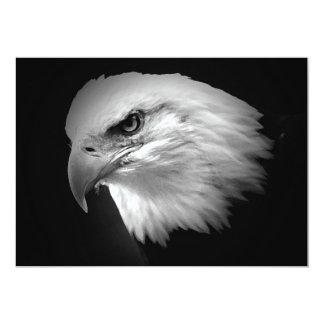 """BW Bald American Eagle Invitation 5"""" X 7"""" Invitation Card"""