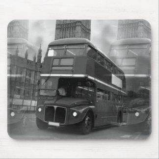 BW Black & White London Bus & Big Ben Mouse Pad