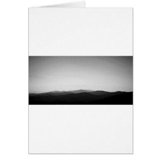 BW Blue Ridge Mountains Card