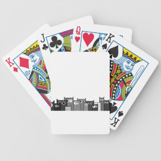 bw cats bicycle playing cards