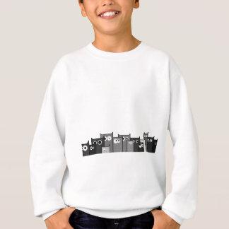 bw cats sweatshirt