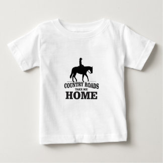 bw country roads take me home baby T-Shirt