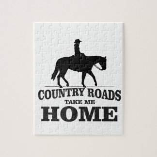 bw country roads take me home jigsaw puzzle