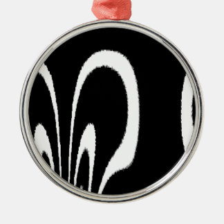 BW Floral Silver-Colored Round Decoration