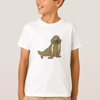BW- Funny Walrus Cartoon T-shirt