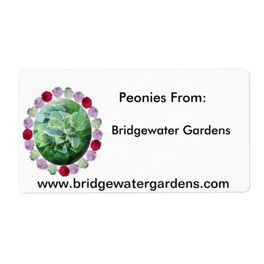 BW Gardens Logo, Bridgewater Gardens, Peonies F...