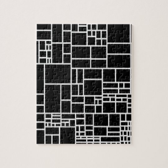 BW Geometric Pattern PHIL Jigsaw Puzzle