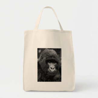 BW Gorilla Face Grocery Tote Bag
