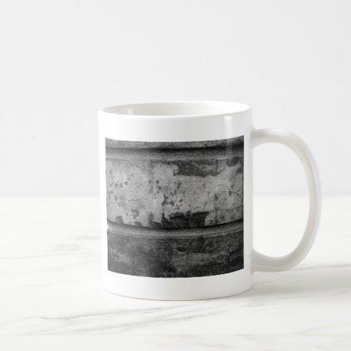 BW Grunge Brick Texture Photography Coffee Mugs