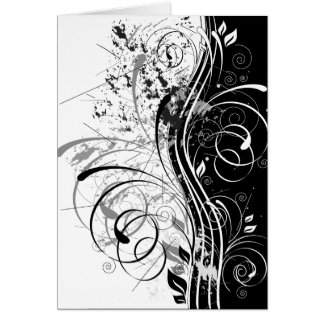 BW grunge Greeting Card