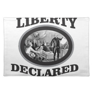 bW liberty declared Placemat