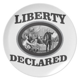 bW liberty declared Plate