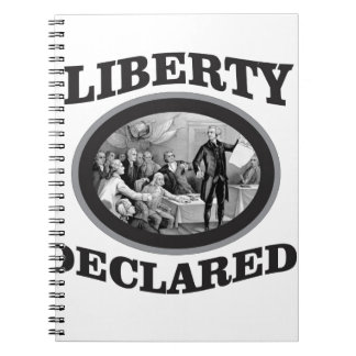 bW liberty declared Spiral Notebook