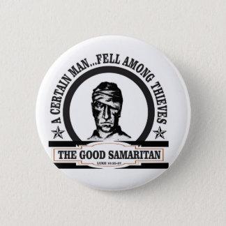 bw samaritan art 6 cm round badge