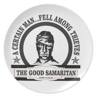 bw samaritan art plate