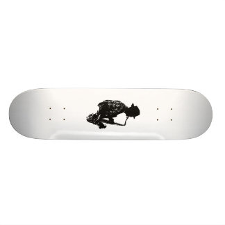 BW sax player side view outline Skate Boards