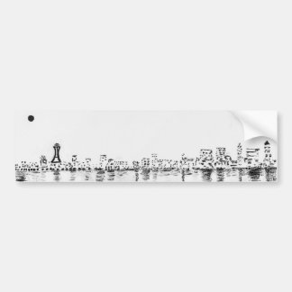 bw seattle painting bumper sticker