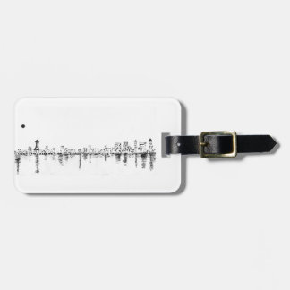 bw seattle painting luggage tag