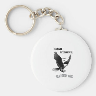 bw soar higher with god basic round button key ring