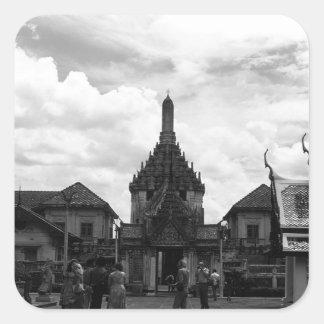 BW Thailand Bangkok The Chakri Group 1970 Square Sticker