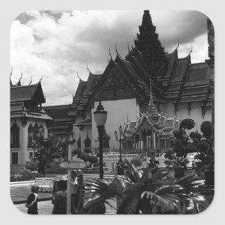 BW Thailand Bangkok the Dusit group 1970 Square Sticker