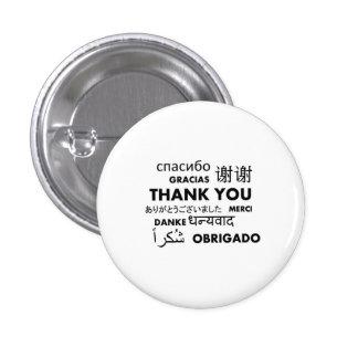 BW Thank you 3 Cm Round Badge