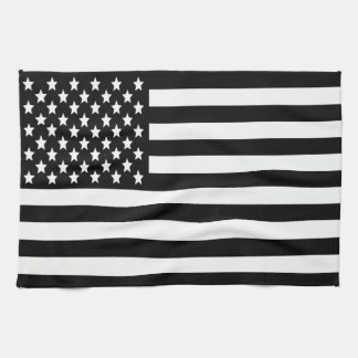 BW US Flag Kitchen Towel
