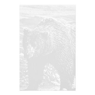 BW USA Alaska brown bear 1970 Personalized Stationery