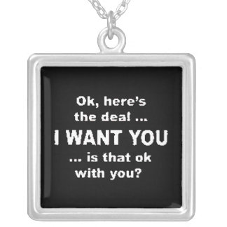 bwIwantyou Silver Plated Necklace